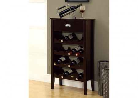 Second Wine Cabinet In Dining Room Monarch Specialties   Cappuccino Wine  Rack For 16 Bottles   I 3346   Home Depot Canada