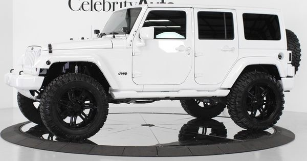 White Jeep Wrangler Unlimited Custom #72 | Jeep! Jeep! | Pinterest | Jeep wrangler unlimited, White jeep wrangler unlimited and Black rims