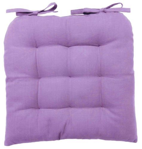 "Vanki Soft Chair Cushion Pad - Living Room Kitchen Chair Seat Cover - 14"" x 14"" Purple Cusion"