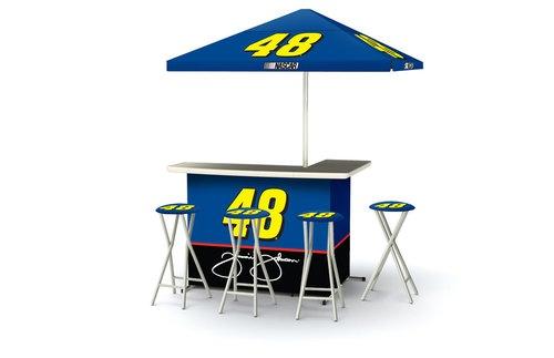 NASCAR Jimmie Johnson 48 Portable Tailgate Bar, Umbrella, Bar Stools, Travel Bag | eBay