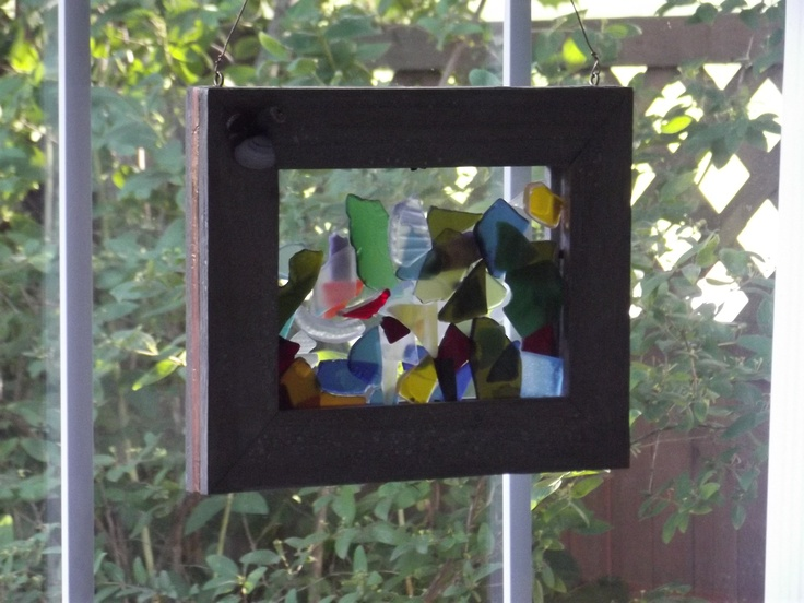 """From The Nut...Shea Butters..............8""""x10"""" glass piece for window...hand made in Halifax, Nova Scotia $25.00"""