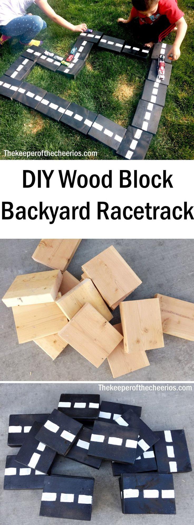DIY Holzblock Hinterhof Rennstrecke