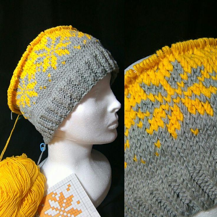 WIP ... My #knitting hat for season 2017/18