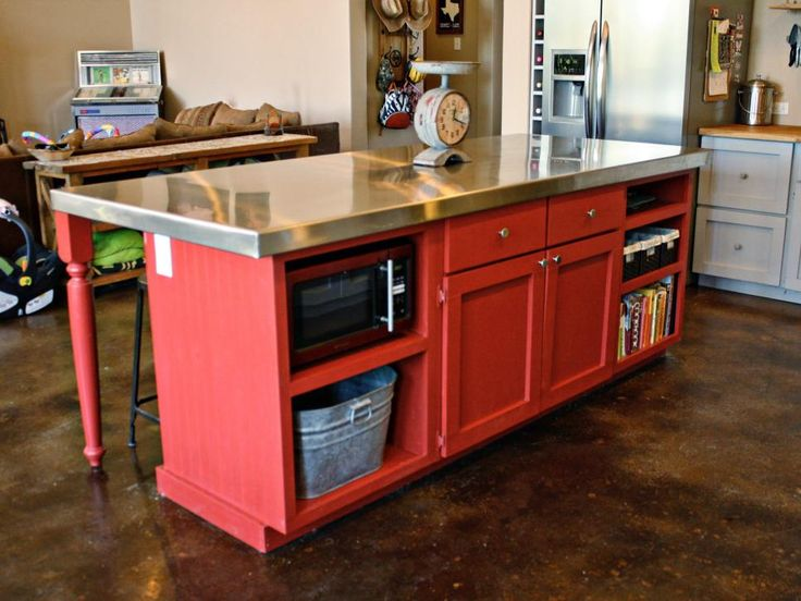 Best 25 homemade kitchen island ideas on pinterest for Making a kitchen island from cabinets