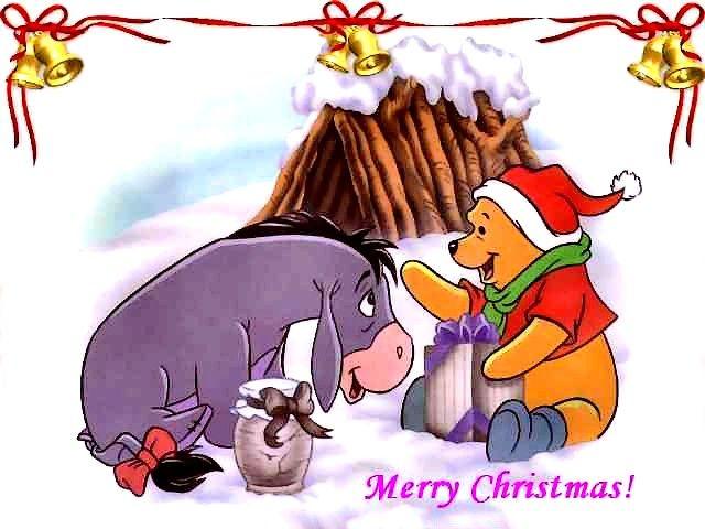 Disney Merry Christmas Card - Greeting card 'Merry Christmas !' by Disney with Eeyore and Winne Pooh. - , Disney, merry, Christmas, card, cards, holidays, holiday, festival, festivals, celebrations, celebration, greeting, greetings, Eeyore, Winne, Pooh - Greeting card 'Merry Christmas !' by Disney with Eeyore and Winne Pooh. Solve free online Disney Merry Christmas Card puzzle games or send Disney Merry Christmas Card puzzle game greeting ecards  from puzzles-games.eu.. Disney Merry ...