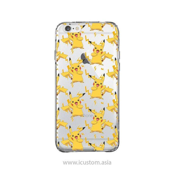 Pikachu Pokemon iPhone 4 4s 5 5s 6 6+ Clear Transparent Clear Case Covers Skins #pikachu #pokemon #ipone #case #clear #case #ebay