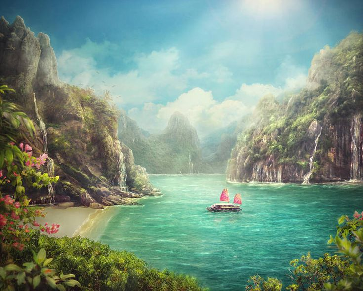 Blue lagoon paints schilder tekenen