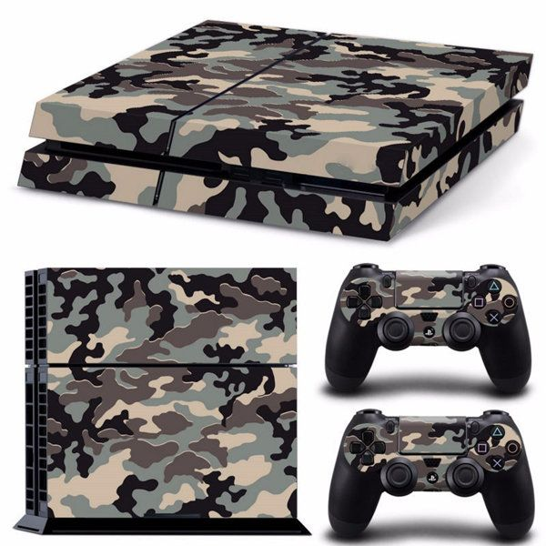 Camouflage Pattern Skin Sticker for PS4 PlayStation 4 Console 2 Controller Protector Skin