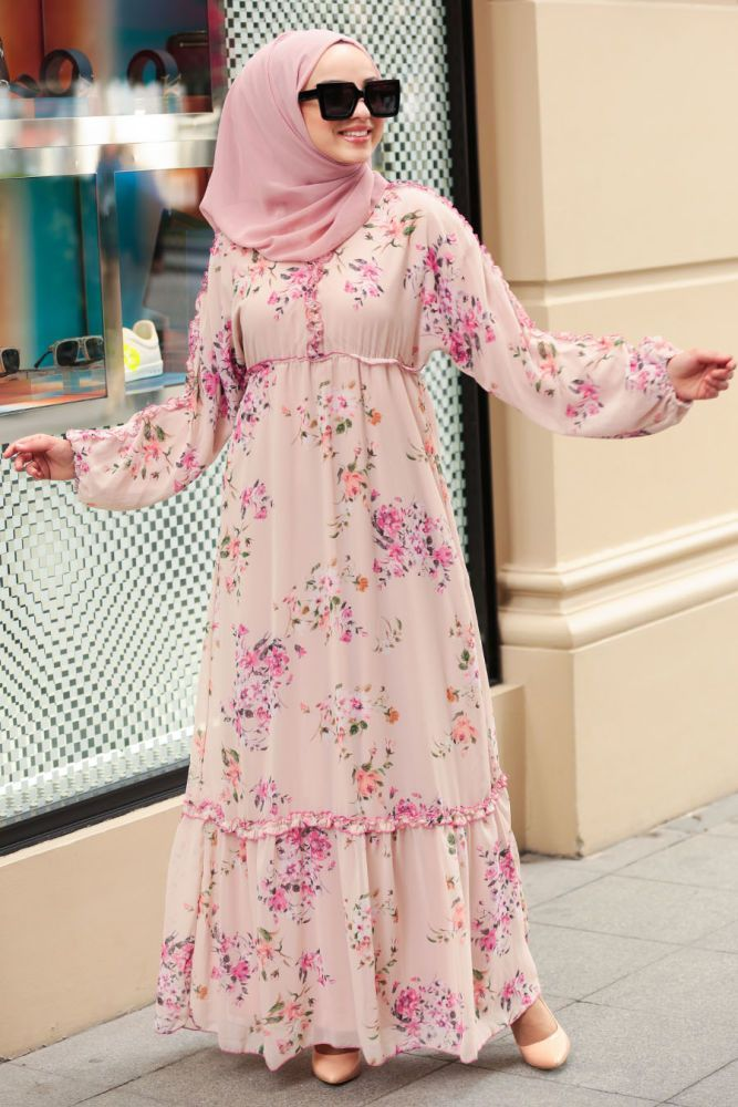 Cicek Desenli Lila Tesettur Elbise 10355lila Neva Style Com Neva Style Lila Hijab Dress 10355lil In 2020 Modest Dresses Fashion Muslim Fashion Dress Hijab Dress
