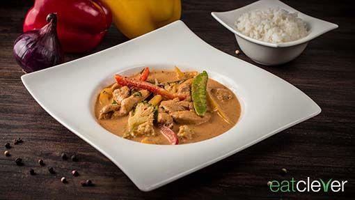 Thailändisches Curry - Thai Curry besonders clever mit hausgemachter eatclever Currypaste und besonders knackigem Gemüse.