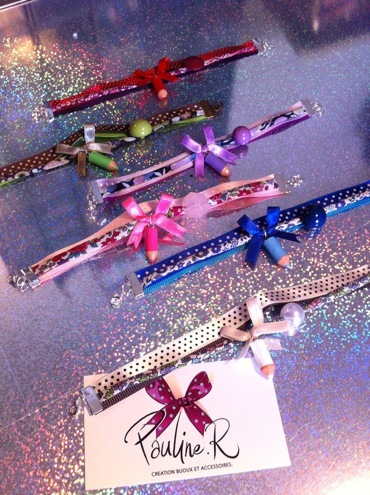 Bracelets petits crayons