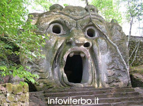 """Parco dei Mostri di Bomarzo Italy   noto anche come Bosco Sacro nasce nel 1552 come """"Villa delle Meraviglie"""". E' un complesso artistico e culturale unico al mondo nella sua particolarità."""
