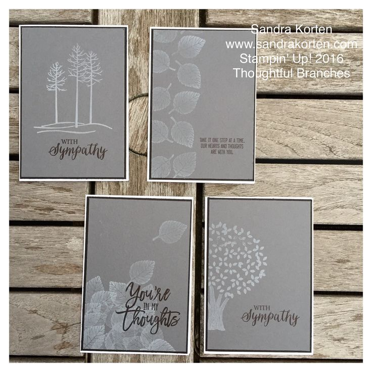 features Stampin Up's Thoughtful Branches stamp set for making beautiful sympathy cards