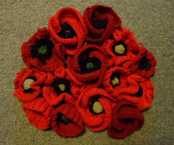 Like to knit or crochet? These are a few of the remembrance poppies being made at Inverell for an installation for Kurrajong Week in January 2016. Contributions would be very welcome. For further information http://www.inverellremembers.org.au/news-details.php?nid=29