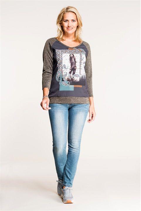 Pretty prints & jeans van Miss Etam