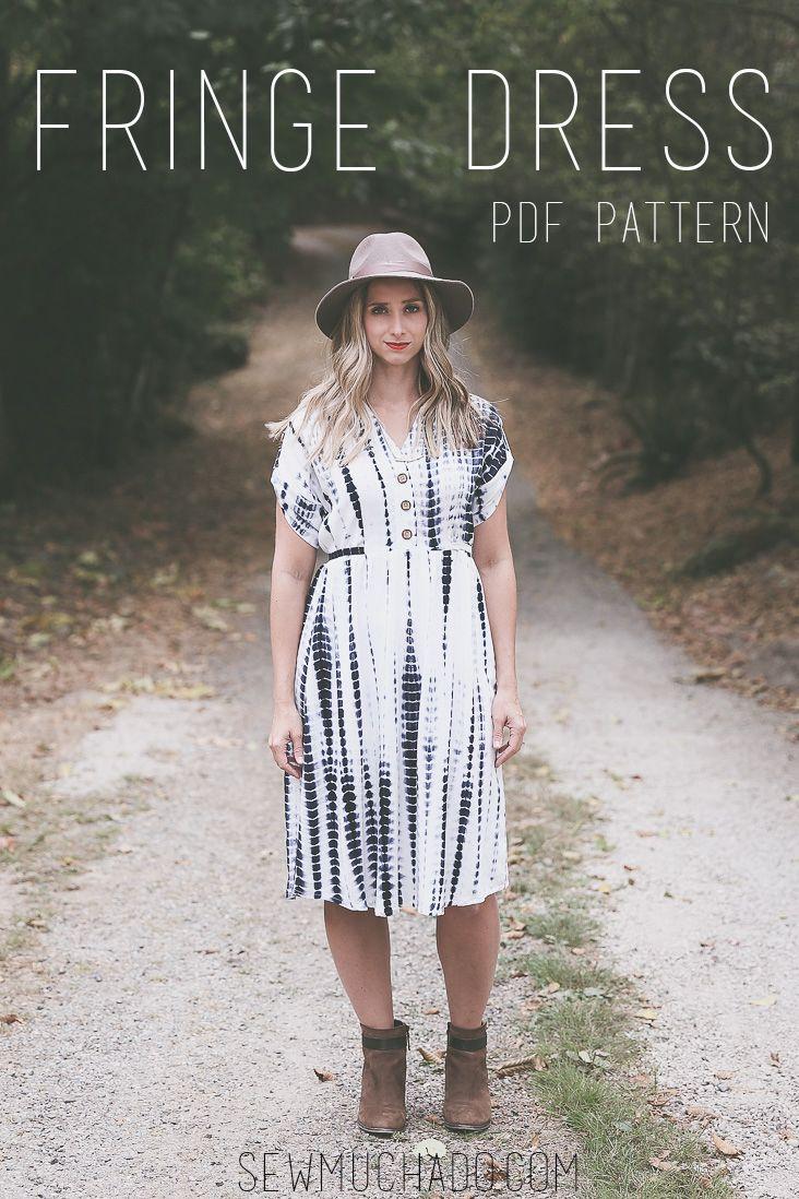 The Fringe Dress Pattern - Chalk and Notch - Women's Dress Pattern Sewn by Sew Much Ado