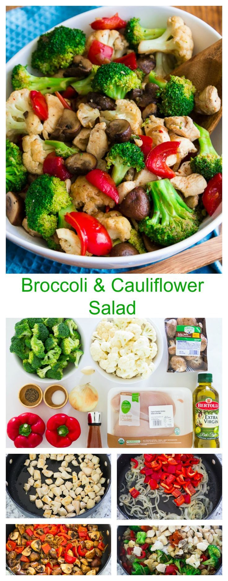 This broccoli and cauliflower salad has it all. Protein, fiber, antioxidants, and many more nutrients are found in this salad.