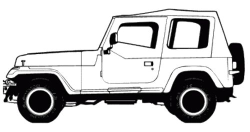 Off Road Jeep Coloring Page