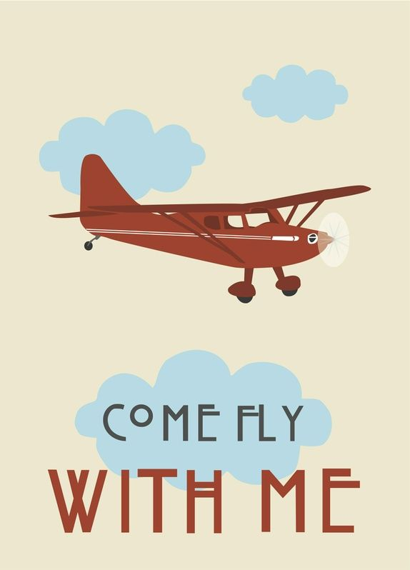 "Plakat 50 x 70cm - ""Come fly with me"""