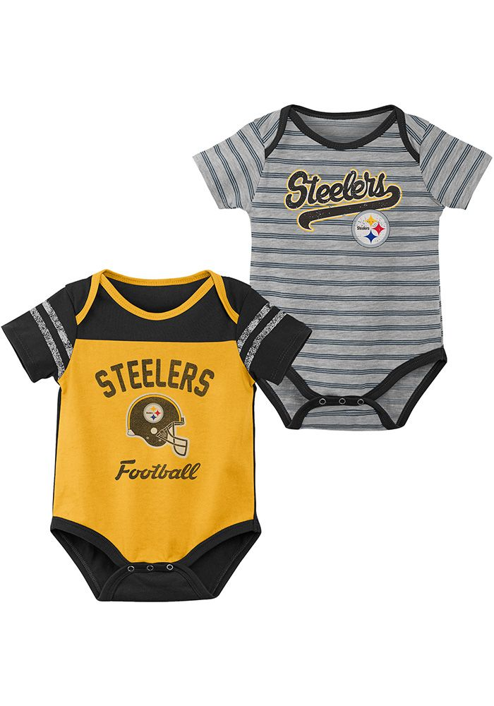 40087d8a7 Pittsburgh Steelers Baby Gold Dual-Action One Piece - Image 1