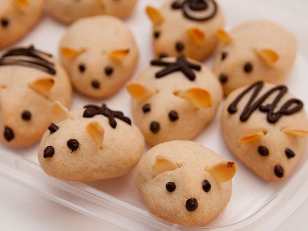 So cute.  Terminally cute.: Mouse Cookies, Delicious Desserts, Sugar Cookies, Christmas Cookies, Recipe, Holidays Cookies, Eating Cookies, Mice Cookies, Cookies Swap