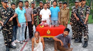 Rare creatures and animal parts seized near Siliguri by SSB worth 3.5 crores - 2 persons arrested   Siliguri: The Sashastra Seema Bal (SSB) on Sunday apprehended two persons for illegal smuggling of Rhino horn Tokay gecko and Reindeer horn from India to China.  The SSB has recovered 145 gms of Rhino horn four Tokay gecko and a Reindeer horn from their possession. The total value of seized items is worth Rs. 3.5 crore.  The apprehended persons named Dhiren Barman and Dhalu Barman were handed…