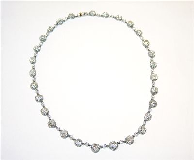ART NOUVEAU DIAMONDS NECKLACE WORN BY DOMINIQUE ON BEVERLY HILLS PAWN