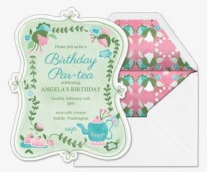 birthday for her free online invitations nutcracker tea party