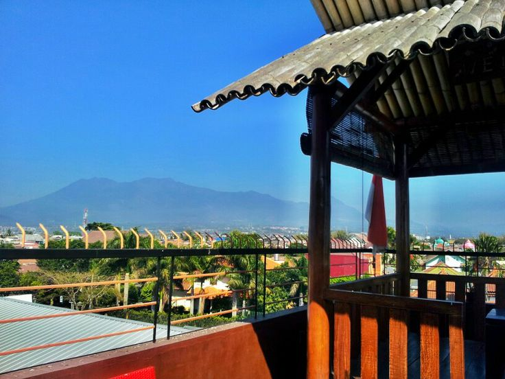 """Mountain""""banyak"""" malang,east java,indonesia. View from rooftop coffee corner malang"""