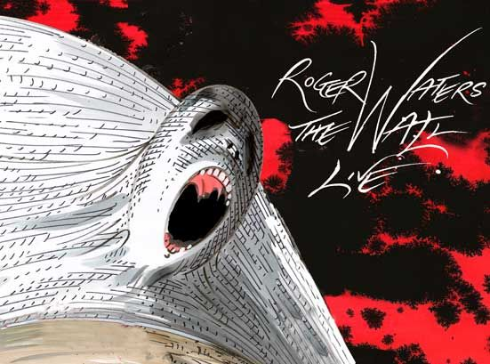 Poster for Roger Waters tour of The Wall. Gerald Scarfe