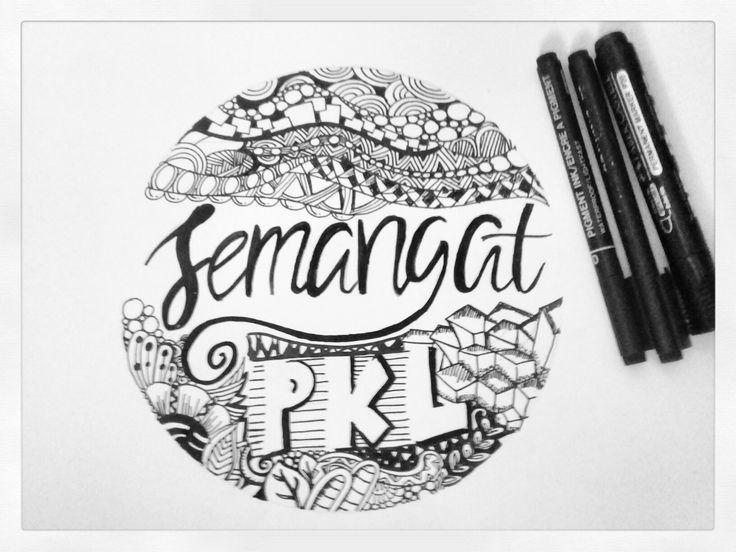 Zentangle doodle art typography