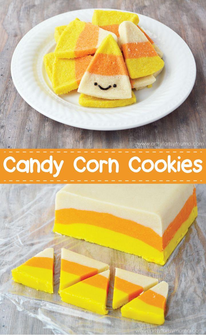 Candy Corn Sugar Cookies Recipe at artsyfartsymama.com