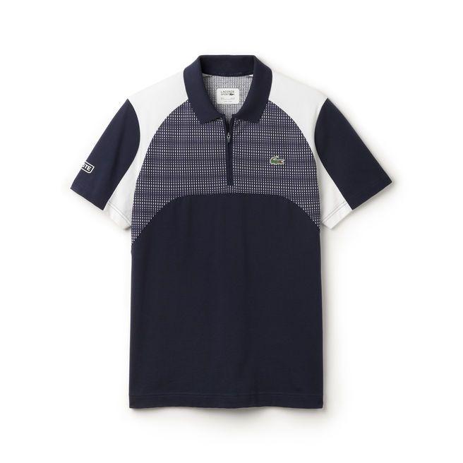 Polo Lacoste Tennis de corte regular de punto jersey ultra-ligero con estampado de malla