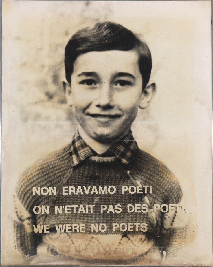 Sarenco, Non eravamo poeti, 1972