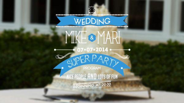 Typographic Wedding Invitations by Denis Forzi, via Behance