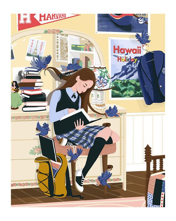 DRESSED BY BIRDS is inspired by Americas favorite blue-eyed book nerd, Rory Gilmore. Stolen boats and married men aside, this private school