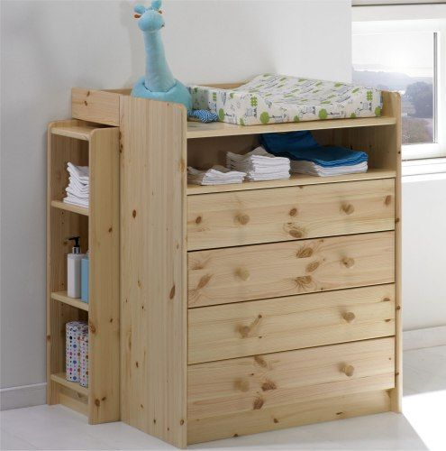 Table langer volo mobilier chambre b b enfant - Table bois naturel ...