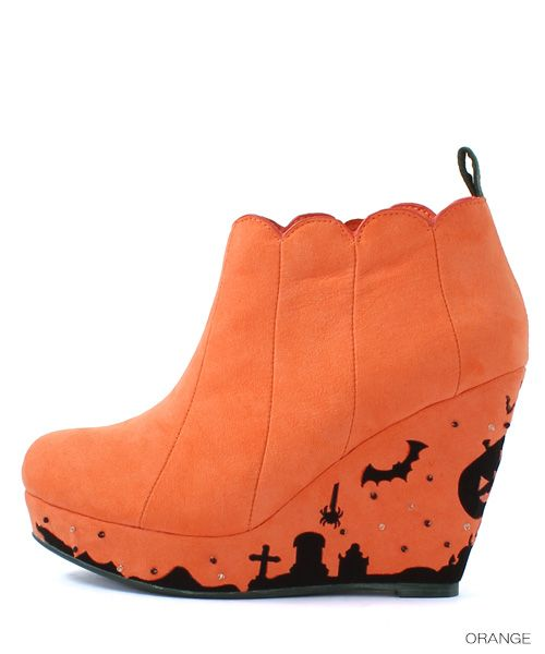 RANDA(ランダ)★公式サイト│レディース靴通販【9/25(Fri)発売!】Halloween/Jack-o'-Lantern/AB4691/Y1(S オレンジ): ブーツ