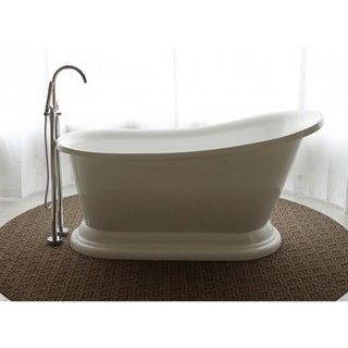 Accent your modern bathroom decor with this gorgeous freestanding bath tub that features a sleek oval shape and neutral clean white color. Trust that this bath tub is made to last with its durable acr