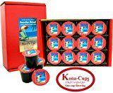 Single-Serve Kona-One-Cups of Breakfast Blend Certified Organic Arabica Tropical Coffee Choose: 12 or 24 single-serve cups or Free Pod Adapter for the Most Eco-Friendly Keurig K-cup Brewing or Single-Serve cup and Tea Gift for All Occasions