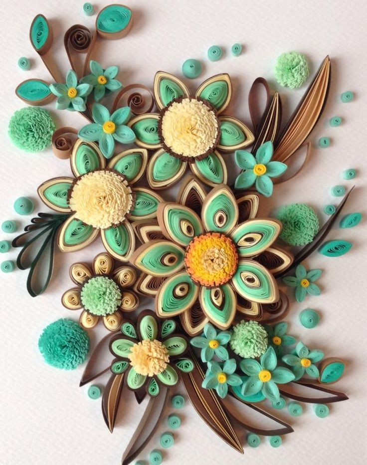 18 best quilled flower bouquets images on pinterest for Best quilling designs