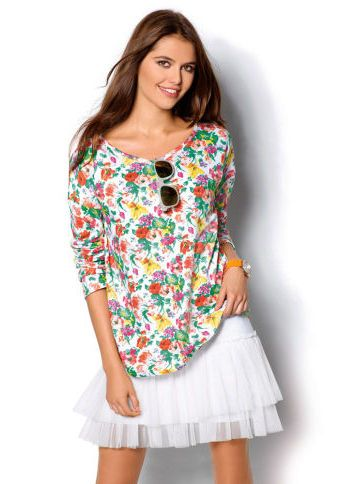 Mikina s potiskem #ModinoCZ #hoodie #flowers #fashion #mikina #květiny #květinovýpotisk #móda