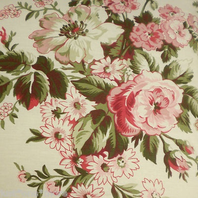 Ralph Lauren Sheffield Rose Floral 4pc King Comforter Set Pink Green Cream Red Ralph Lauren