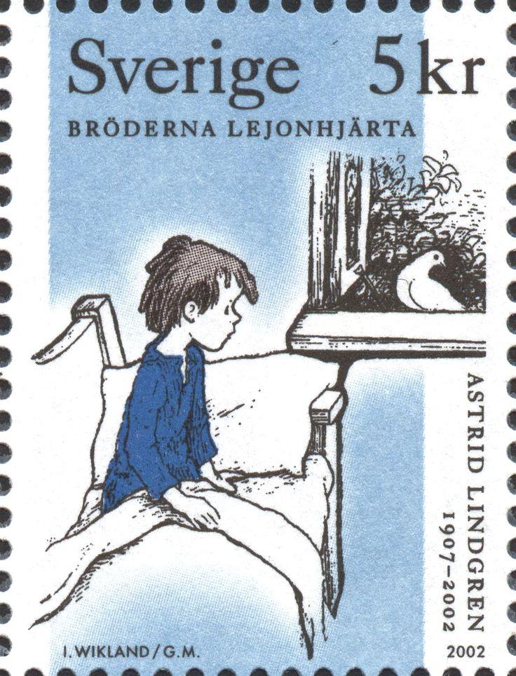 "Sweden 5kr ""Astrid Lindgren 1907–2002"" 2002. ""Bröderna Lejonhjärta"" / ""The Brothers Lionheart"" Ilon Wikland del."