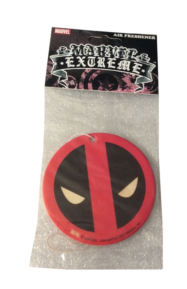 Marvel Comics Deadpool Mask Cinnamon Scent Auto Office Air Freshener #MarvelComics