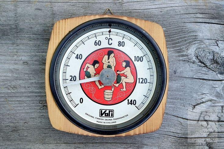 Vintage VARI Original Finnish Sauna Thermometer