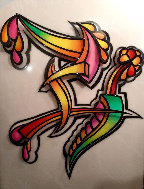 Contemporary Airbrushed Plexiglass Wall by ChrisTheArtGuy on Etsy