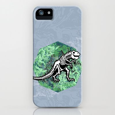 T. Rex Fossil iPhone & iPod Case by chobopop - $35.00