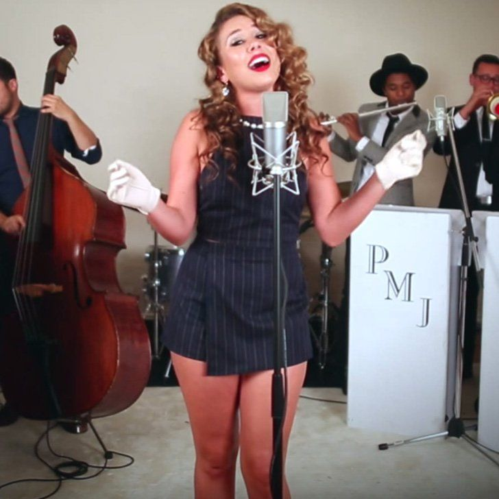 "Haley Reinhart Puts a Gorgeous Old-Fashioned Spin on ""Oops! . . . I Did It Again"""