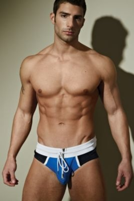 Man Zone Team Brief - Small, Navy/grey Men's Underwear from UnderGear